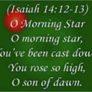 O Morning Star Poster