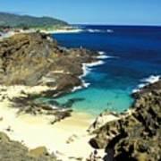 Oahu, Beach Goers Poster
