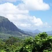 Oahu Mountain Poster