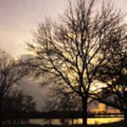 Oakwood Lakes Sunset Poster
