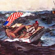 Obama At Sea Poster