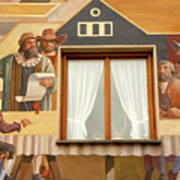 Oberammergau Frescoe Poster