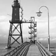 Obereversand Lighthouse - North Sea - Germany Poster
