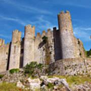 Obidos Castle Poster by Carlos Caetano
