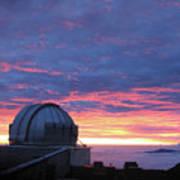 Observatory Sunset Poster