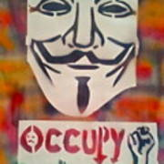 Occupy Mask Poster by Tony B Conscious