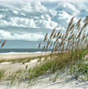 Ocean Breeze At Fort Fisher - Number One Poster