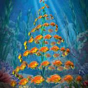 Ocean Christmas Poster