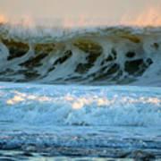 Ocean Energy At Sunrise Poster