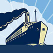 Ocean Liner Boat Poster