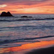 Ocean Sky Awash In Color Poster