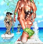 Ocean Statues Poster
