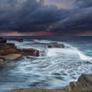 Ocean Stormfront Maroubra Poster