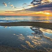 Ocean Sunrise Reflection Poster