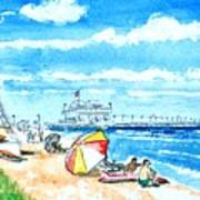 Ocean View Beach Poster
