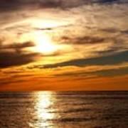 Ocean View Sunset Poster