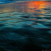 Oceanside Reflective Sunset Poster
