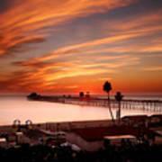 Oceanside Sunset 10 Poster by Larry Marshall