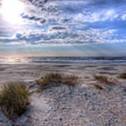 Ocracoke Winter Dunes II Poster by Dan Carmichael