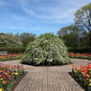 Octagon Garden At Cantigny Park Poster