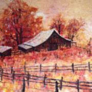 October Barn Poster