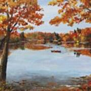 October Morn At Walden Pond Poster by Jack Skinner