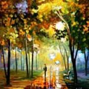 October Reflections - Palette Knife Oil Painting On Canvas By Leonid Afremov Poster