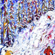 Off Piste In The Woods Above Morzine Poster