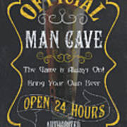 Official Man Cave Poster