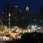 D3l-464 Ohio State Fair With Columbus Skyline Poster