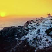 Oia Town , Santorini Island, Greece Poster