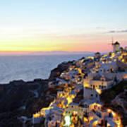 Oia Village In Santorini Island - Greece Poster
