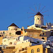 Oia Windmill Poster