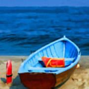 Oil - Rescue Boat Poster