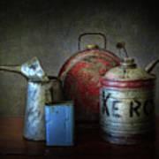 Oil And Kerosene Cans Poster