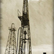 Oil Derrick Vi Poster