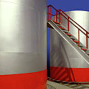 Oil Industry Storage Tank Poster