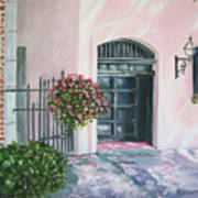 oil painting print art for sale Pink Wall and Door   Poster