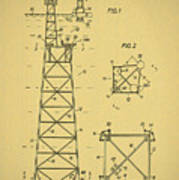 Oil Rig Patent Poster