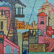 Oklahoma City Bricktown Mosaic Wall Poster