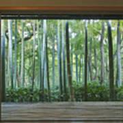Okochi Sanso Villa Bamboo Garden Poster by Rob Tilley