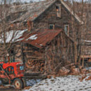 Old Abandoned Farm Homestead Poster