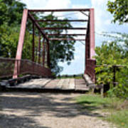 Old Alton Bridge In Denton County Poster