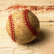 Old American Baseball Poster