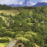 Old Barn, Grand Tetons Poster