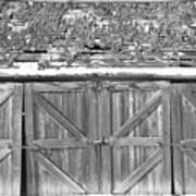 Old Barn In Black And White Poster
