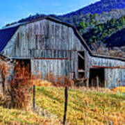 Old Barn In West Virginia Mountains 4836 Fusedt Poster