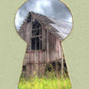 Old Barn Keyhole Poster