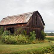 Old Barn On Seneca Lake - Finger Lakes - New York State Poster by Gary Heller