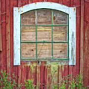 Old Barn Window Poster